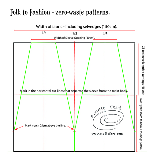 Instructions for Folk to Fashion Drafting