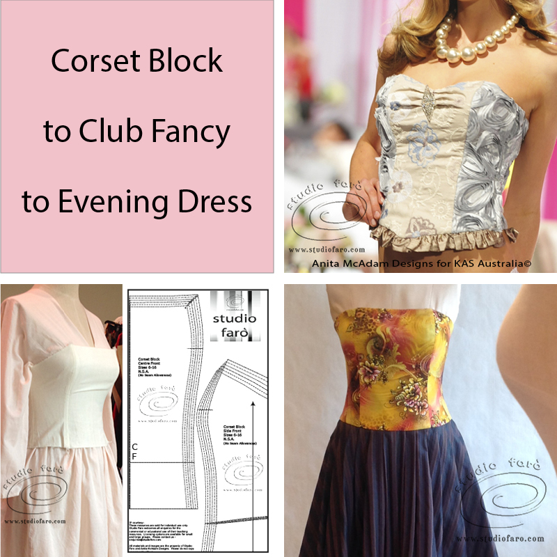 My Corset Block with all the design possibilities.