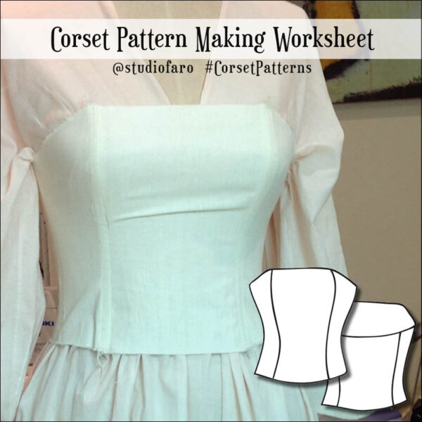 Use my corset block and these instructions to draft your own corset designs.