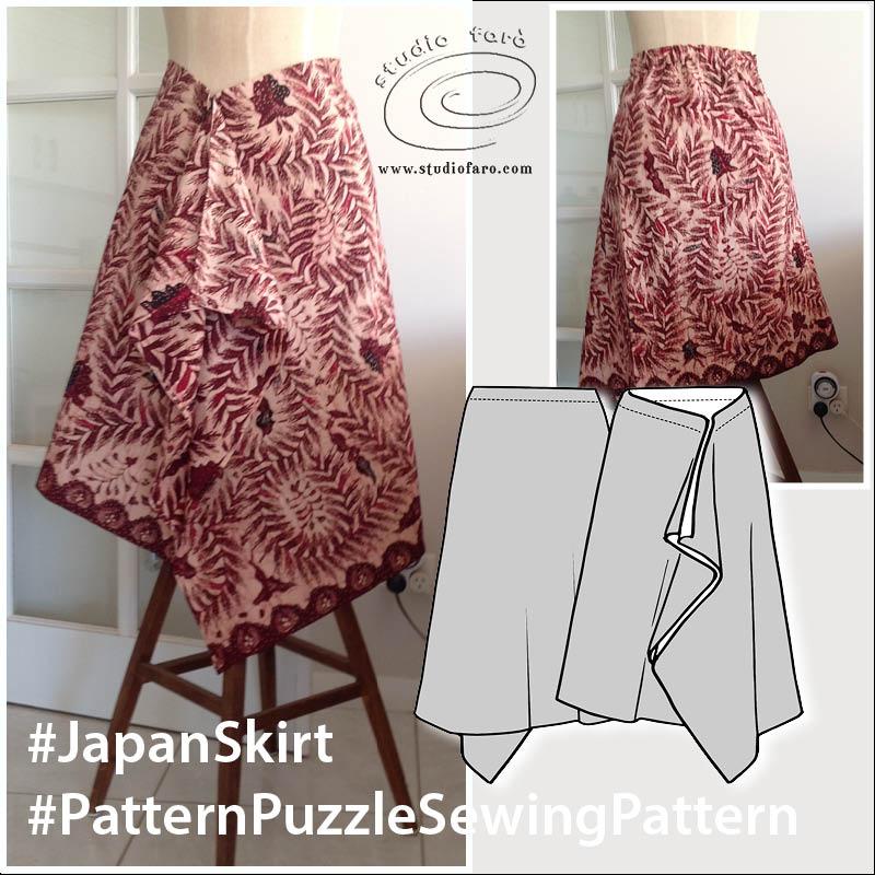 Japan Skirt Sewing Pattern (PDF download)